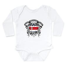 Costa Rica Soccer Long Sleeve Infant Bodysuit