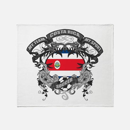 Costa Rica Soccer Throw Blanket