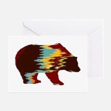 Artistic Rustic Bear Greeting Cards