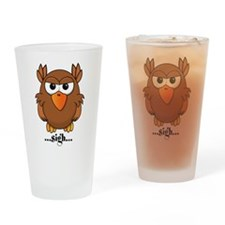 Annoyed Owl Drinking Glass