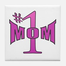 Number one mom p Tile Coaster