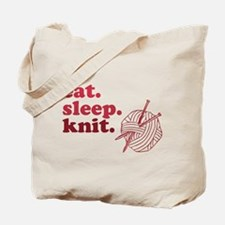 Eat. Sleep. Knit. Tote Bag