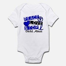 Peace Love Stop Child Abuse 1 Infant Bodysuit