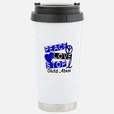 Peace Love Stop Child A Stainless Steel Travel Mug