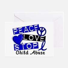Peace Love Stop Child Abuse 1 Greeting Card