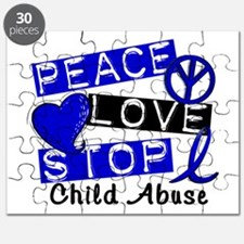 Peace Love Stop Child Abuse 1 Puzzle