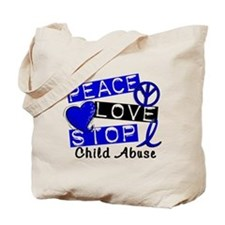 Peace Love Stop Child Abuse 1 Tote Bag