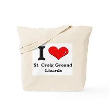 I love st. croix ground lizards Tote Bag