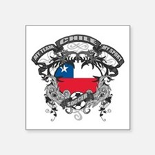 "Chile Soccer Square Sticker 3"" x 3"""