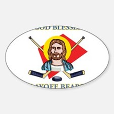 Playoff Beards Oval Decal