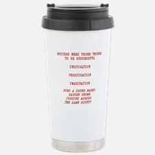WRITER INSPIRATION-RED Travel Mug