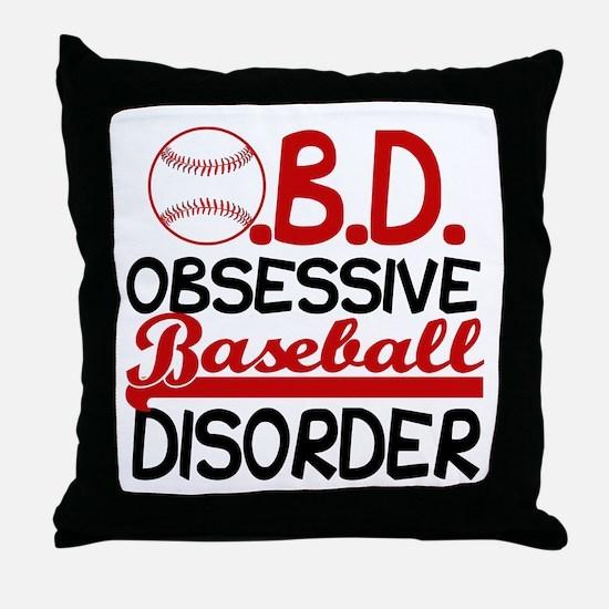 Funny Baseball Throw Pillow