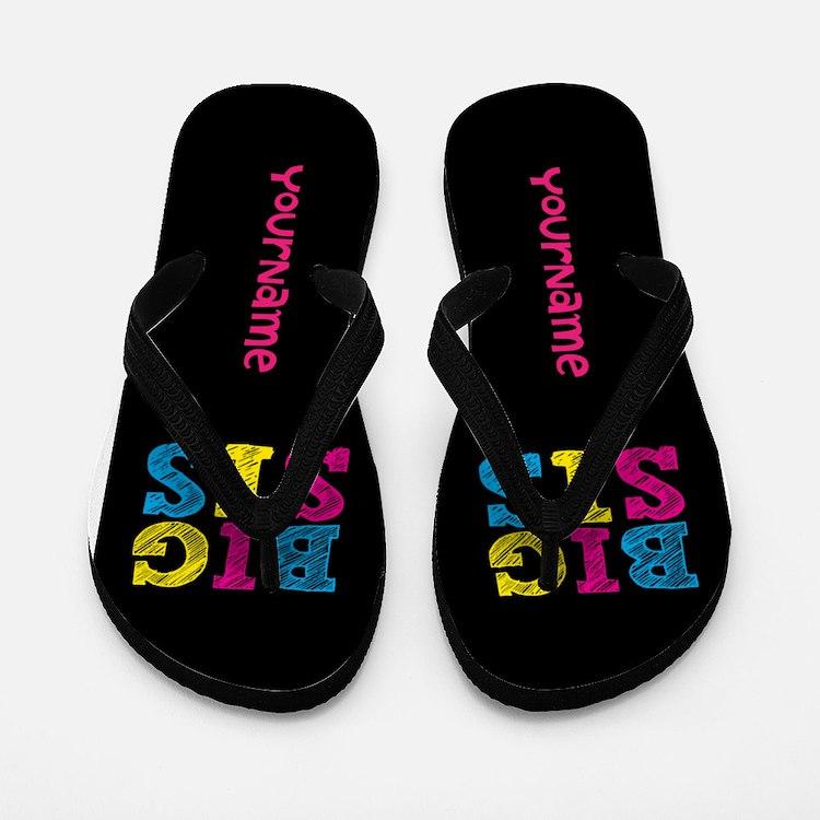 Bis Sister Personalized Flip Flops