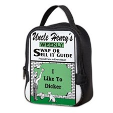 I like to Dicker Neoprene Lunch Bag