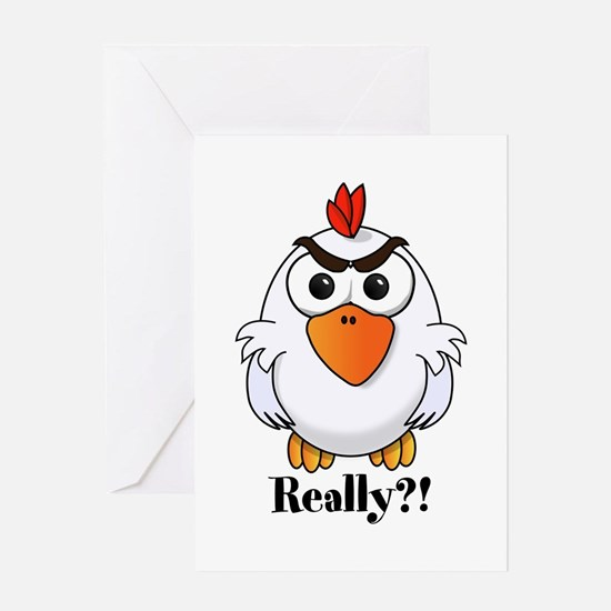 Angry Chicken Greeting Cards