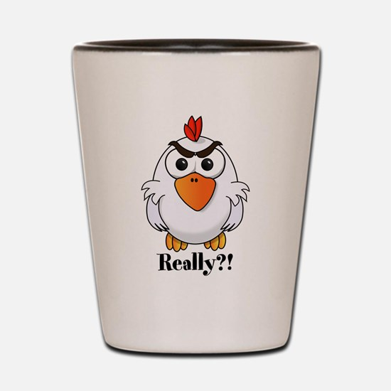 Angry Chicken Shot Glass