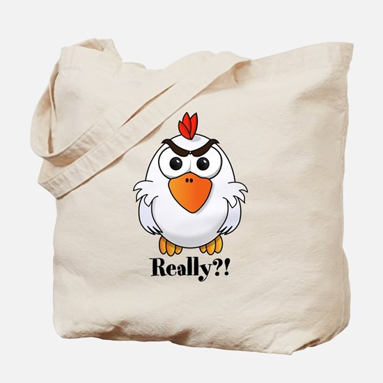 Angry Chicken Tote Bag
