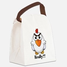 Angry Chicken Canvas Lunch Bag
