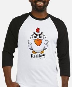 Angry Chicken Baseball Jersey