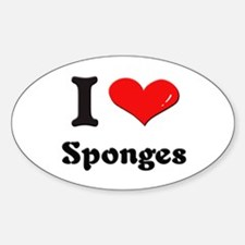 I love sponges Oval Decal