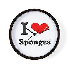 I love sponges  Wall Clock