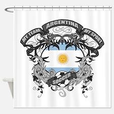 Argentina Soccer Shower Curtain