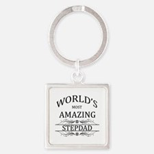 World's Most Amazing Step Dad Square Keychain