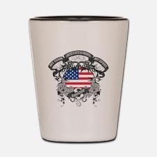 American Soccer Shot Glass