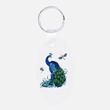 Blue Peacock and Dragonflie Keychains