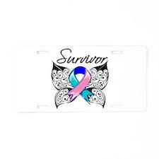 Survivor Thyroid Cancer Aluminum License Plate