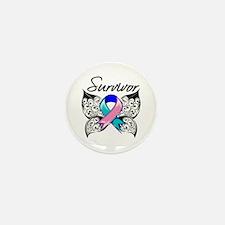 Survivor Thyroid Cancer Mini Button (100 pack)