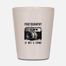 Photography Is Not a Crime Shot Glass