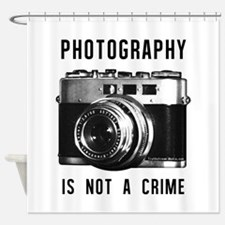 Photography Is Not a Crime Shower Curtain