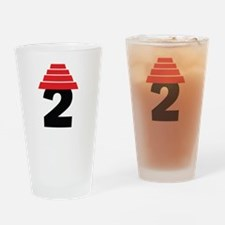 Devo Bob 2 Heart Drinking Glass