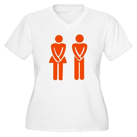 MANN UND FRAU Women's Plus Size V-Neck T-Shirt