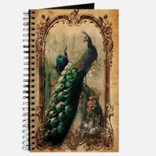 vintage elegant peacock french floral bota Journal