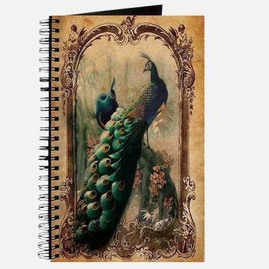 vintage elegant peacock french floral bota Journal
