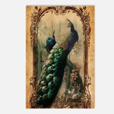 vintage elegant peacock f Postcards (Package of 8)