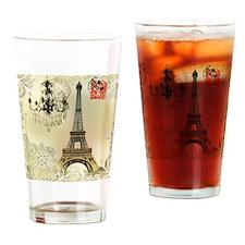 vintage  chandelier postage paris e Drinking Glass