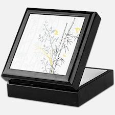 Bamboo n Birds Yellow Keepsake Box