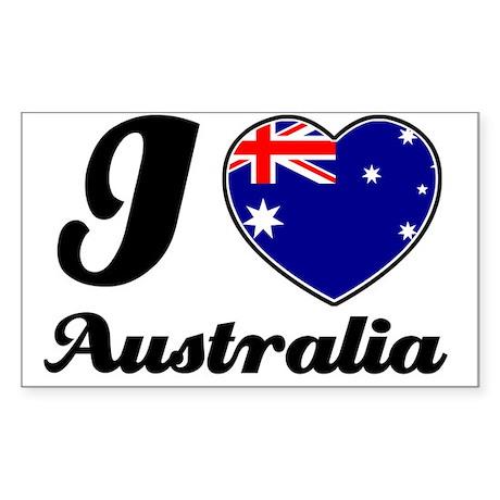 I love Australia Rectangle Sticker