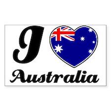 I love Australia Rectangle Stickers