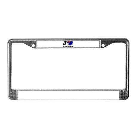 I love Australia License Plate Frame