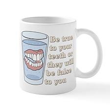 False Teeth Dentures Small Mug