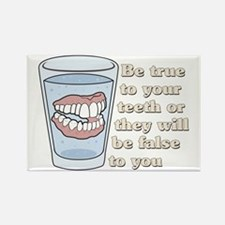 False Teeth Dentures Rectangle Magnet