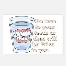 False Teeth Dentures Postcards (Package of 8)