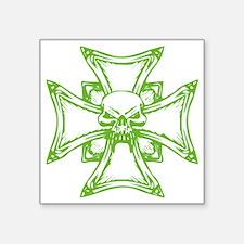 """KREUZ UND SCHÄDEL Square Sticker 3"""" x 3"""""""