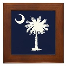 SC Palmetto Crescent (2).png Framed Tile