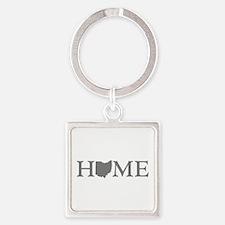 Ohio Home Square Keychain