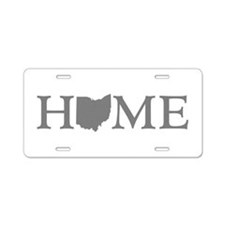 Ohio Home Aluminum License Plate